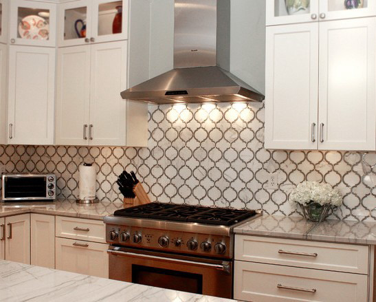 lantern shaped mosaic tiles can be used for a kitchen backsplash
